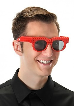 Bricky Blocks Glasses Red