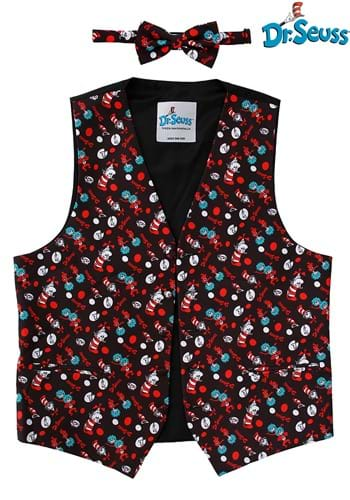 The Cat in the Hat Pattern Vest & Bow Tie Kit 1