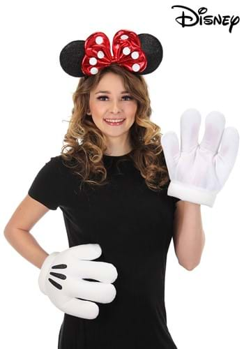 Minnie Glitter Headband & Gloves Set
