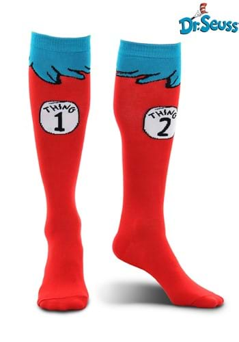 Thing 1&2 Costume Socks Adult