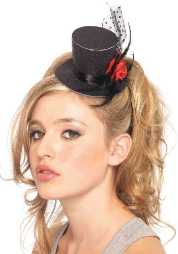 Mini Black Top Hat By: Leg Avenue for the 2015 Costume season.