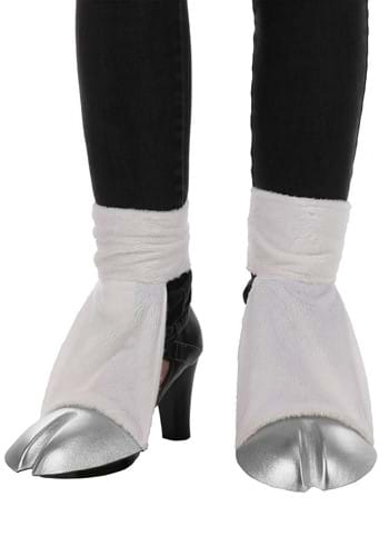 Unicorn Costume Back Hooves Silver