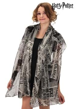 Daily Prophet Newspaper Print Lightweight Scarf