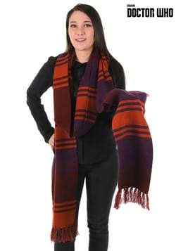 Fourth Doctor Deluxe Purple Knit Scarf Update