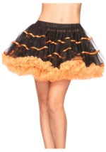 Orange and Black Tulle Petticoat
