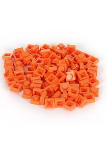 Bricky Blocks 100 Pieces 1x1 Orange
