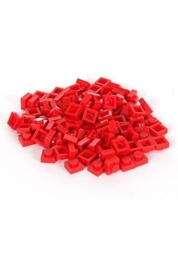 Bricky Blocks 100 Pieces 1x1 Red