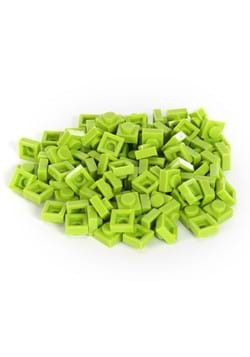 Bricky Blocks 100 Pieces 1x1 Lime