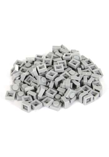 Bricky Blocks 100 Pieces 1x1 Gray