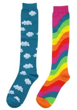 Mismatched Rainbow Knee-High Socks