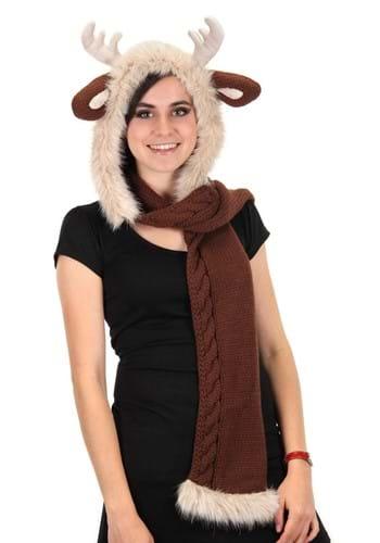 Reindeer Knit Hood