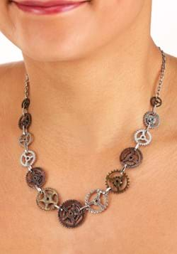 Single Chain Gears Necklace Main UPD