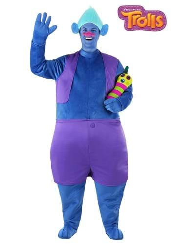 Trolls Adult Plus Size Biggie Costume main1