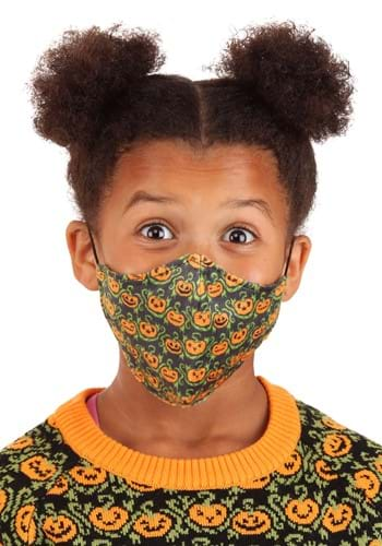 Child Pumpkins Sublimated Face Mask
