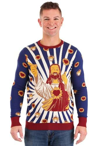 Jay and Silent Bob Buddy Christ Ugly Sweater Main Upd