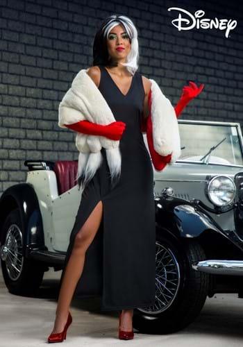 Womens Prestige Cruella De Vil Stole Costume-2
