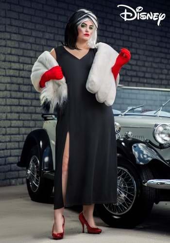 Plus Size Prestige Cruella De Vil Stole Costume-2