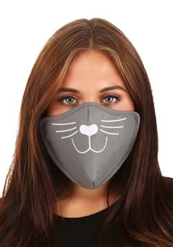 Adult Cat Face Mask Gray