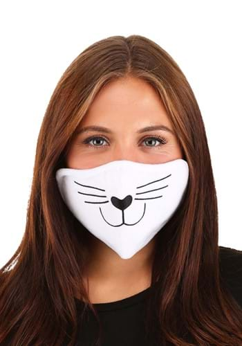 Adult Cat Face Mask White