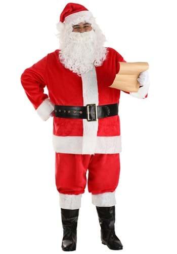 Plus Size Deluxe Red Santa Claus Costume