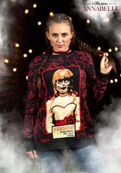 Adult Annabelle Halloween Sweater-update