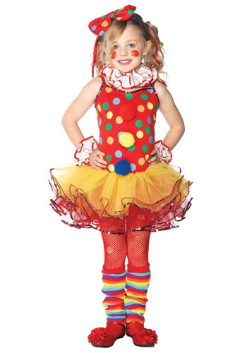 Click Here to buy Kids Circus Clown Cutie Costume from HalloweenCostumes, USA Funds & Shipping