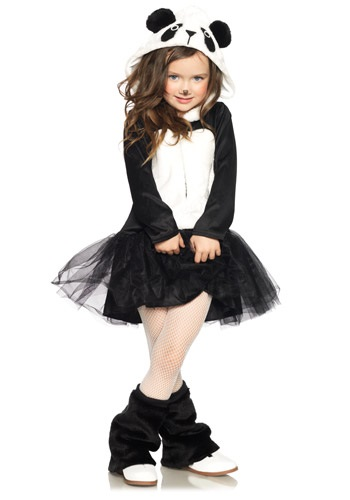 Girls Pretty Panda Bear Costume