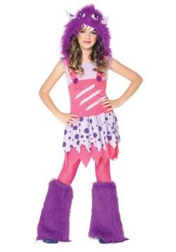 Girls Furball Monster Costume