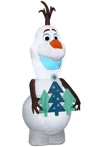 Frozen Airblown Standing Olaf w/Tree Christmas Dec
