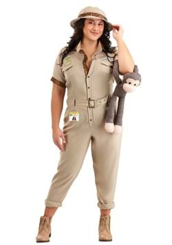 Womens Plus Size Zookeeper Costume