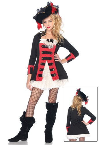 Click Here to buy Tween Charming Pirate Captain Costume from HalloweenCostumes, USA Funds & Shipping