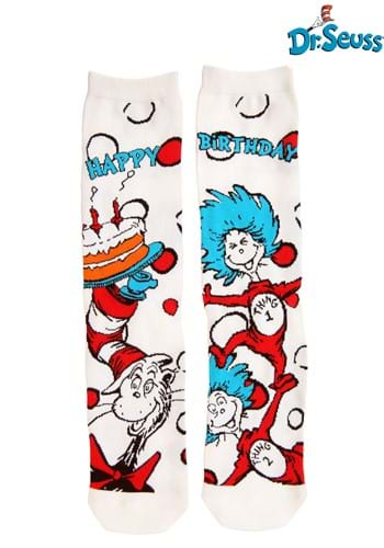 The Cat in the Hat Birthday Adult Crew Socks update