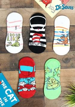 Adult Dr. Seuss No Show Sock Set 5 Pairs