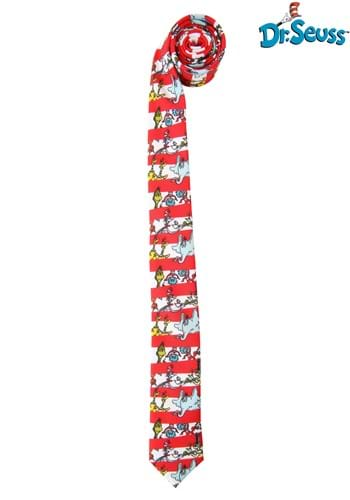 Dr. Seuss Characters & Stripes Necktie for Adults