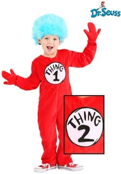 Deluxe Thing 1 2 Toddler Costume