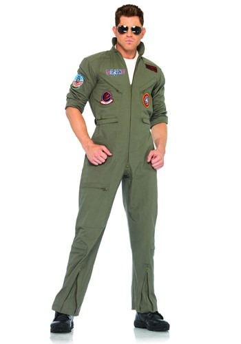 Mens Top Gun Flight Suit - Adult Top Gun Movie Costumes