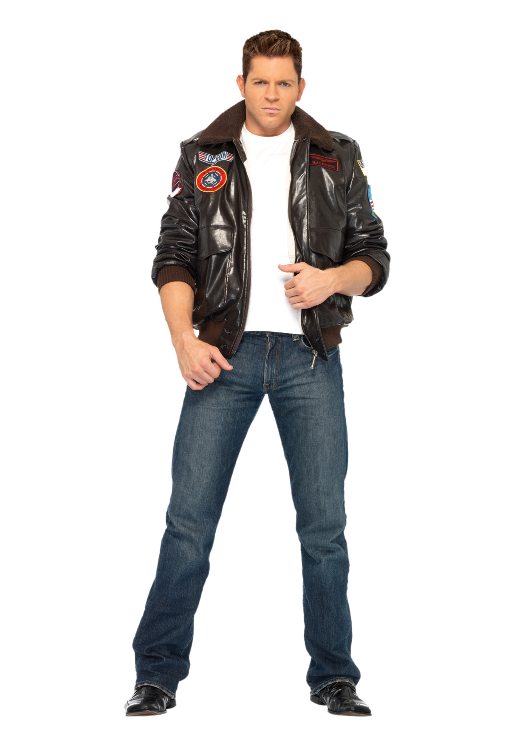 85942a656978 Mens Top Gun Bomber Jacket new image