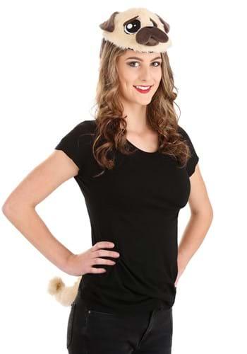 Pug Plush Headband & Tail Kit
