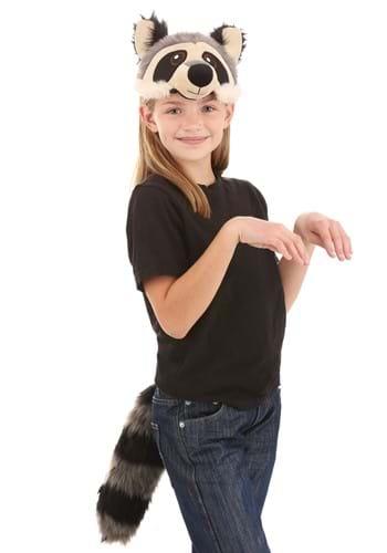 Raccoon Plush Headband & Tail Kit