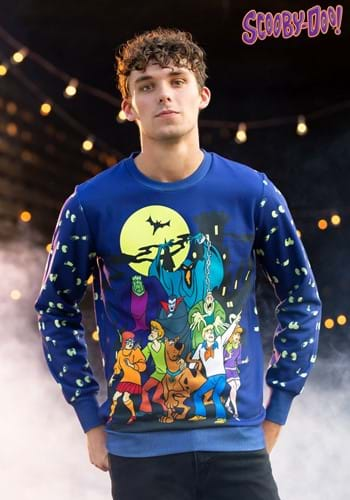 Scooby-Doo Glow-in-the-Dark Adult Halloween Sweatshirt main