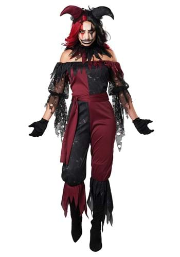 Womens Plus Psycho Jester Costume