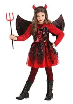 Girls Sparkling Devil Dress Costume