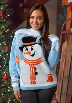 Friendly Snowman Ugly Christmas Sweater for Adults-2