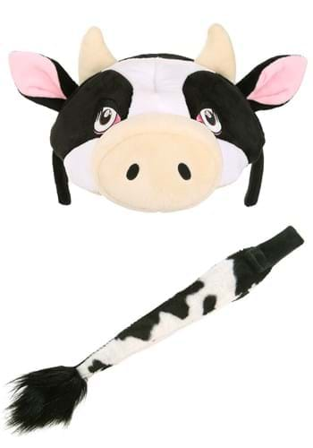 Cow Plush Headband & Tail Costume Kit upd main