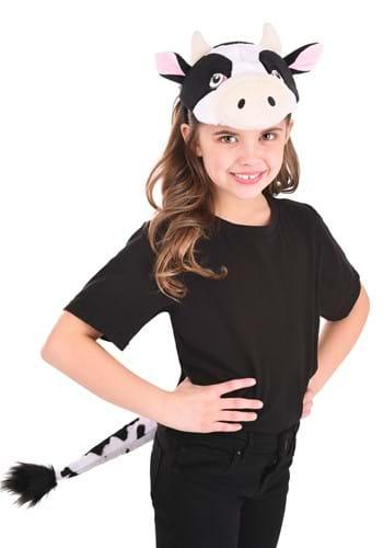 Cow Plush Headband & Tail Kit