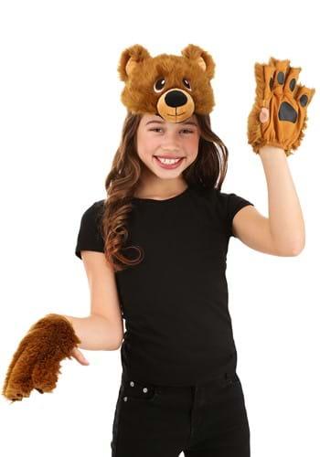 Bear Plush Headband & Paws Kit