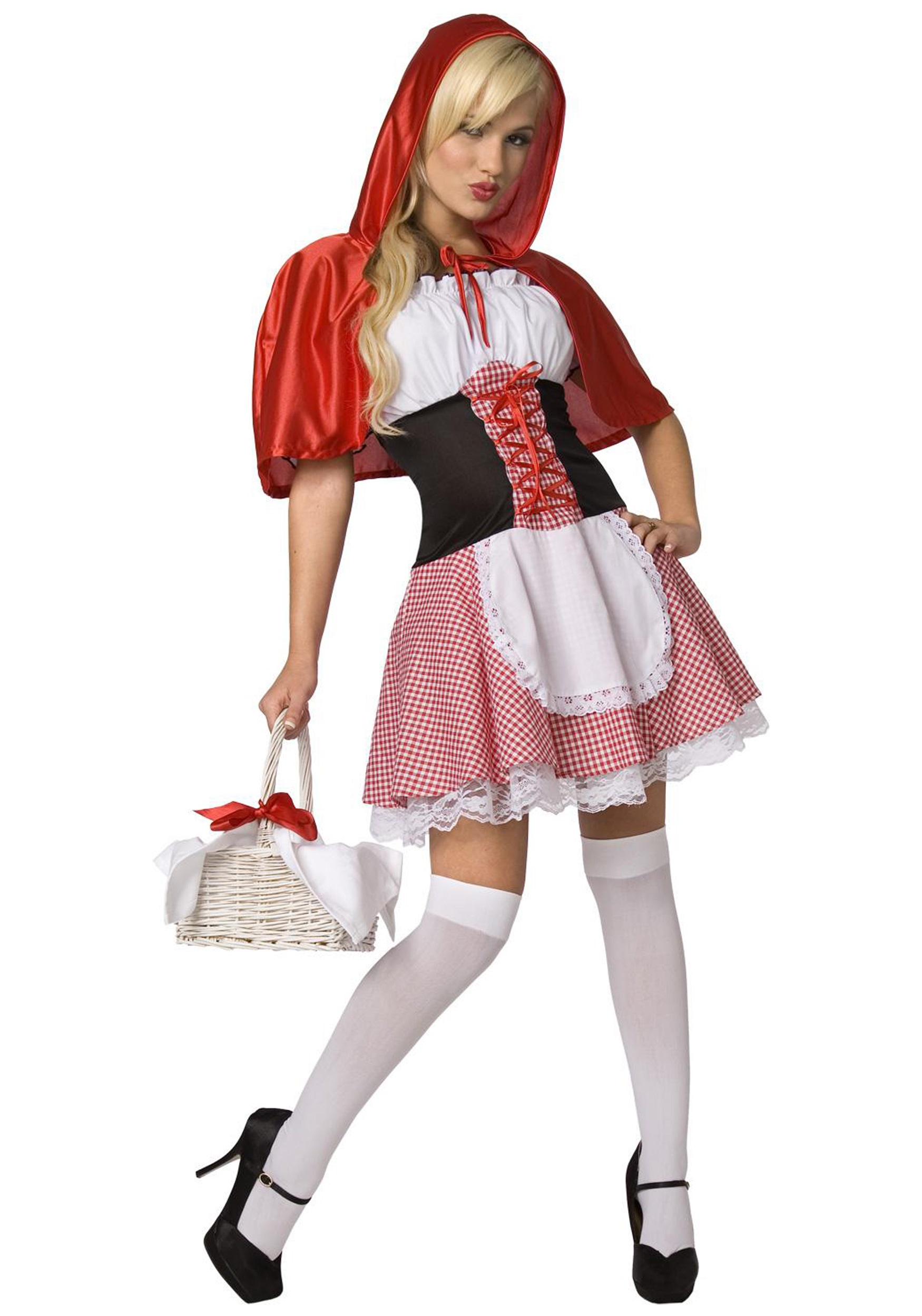 Plus Size Little Red Riding Hood Costume LI5043X