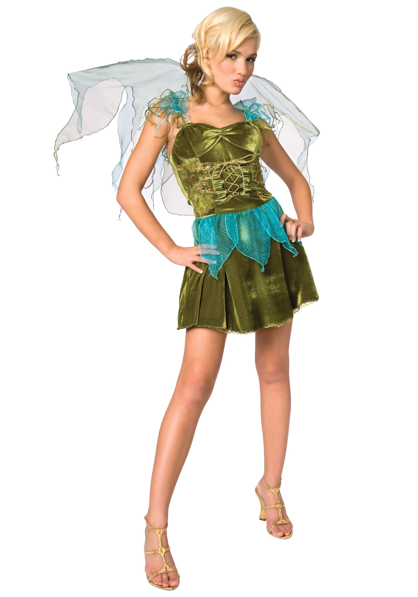 green fairy costume - Green Halloween Dress