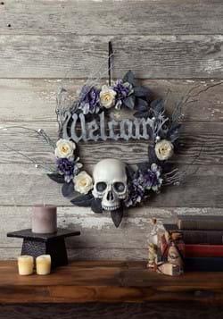 16in Welcome Skull Wreath