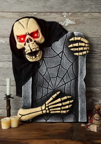 21 Inch Animated Skeleton Tombstone